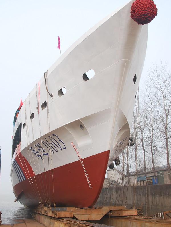 【新闻】江苏海事局60m级综合应急指挥船顺利下水